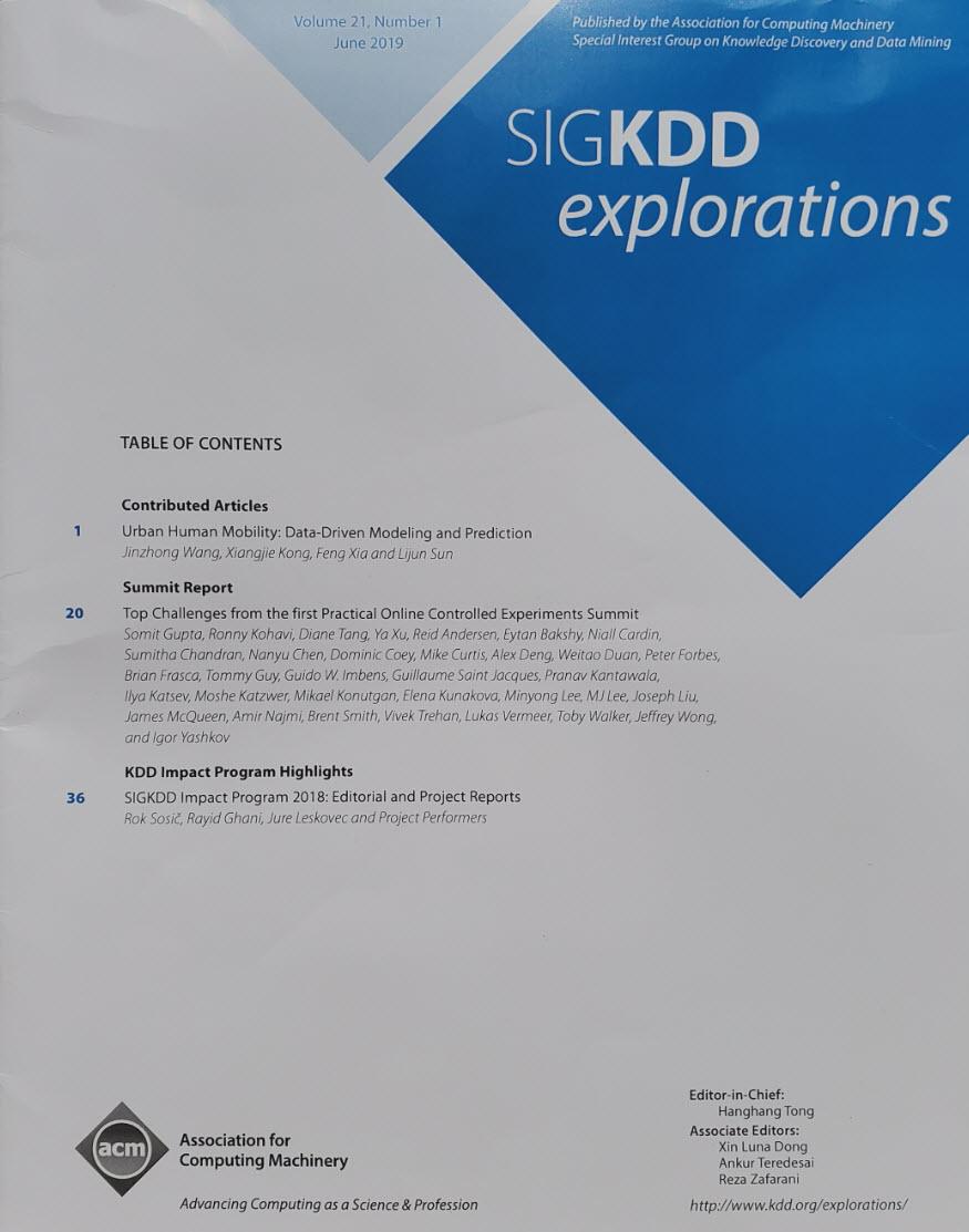SIGKDD Explorations June 2019